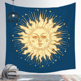 Wholesale Custom Nordic Style Sun Shining Tarot Tapestry Square Home Decoration Background Wall Hanging Cloth