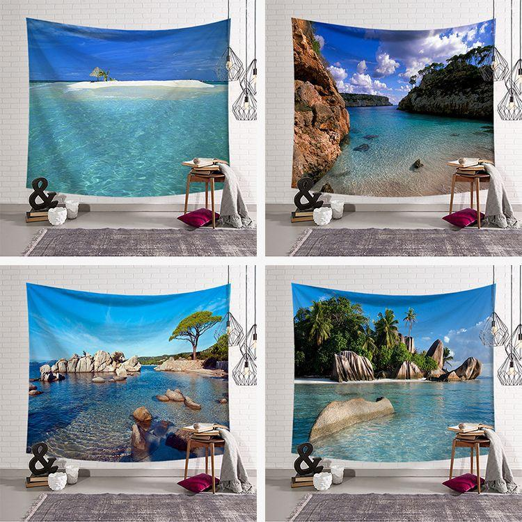 Seaside Tapestry Wall Hanging Tapestry Wall Backdrop Room Decoration Tapestry