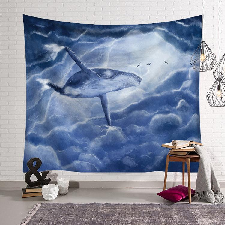 Whale Tapestry Wall Hanging Tapestry Wall Backdrop Room Decoration Tapestry