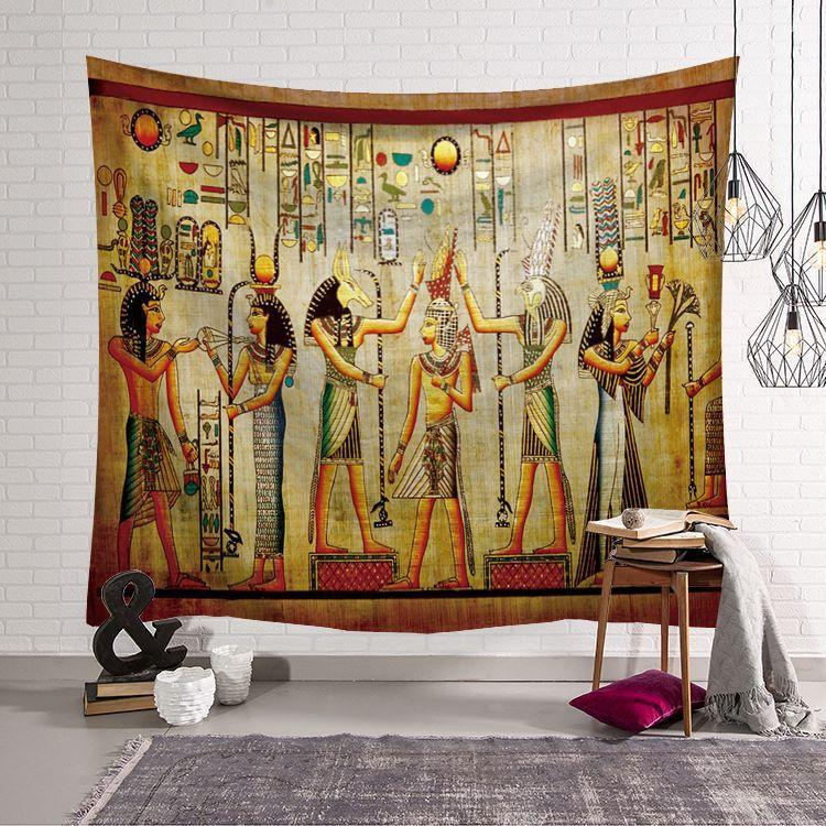 Egyptian Pharaoh Tapestry Background Cloth Live Broadcast Decoration Cloth