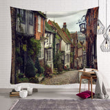 Street Scenery Tapestry Wall Hanging Tapestry Wall Backdrop Room Decoration Tapestry