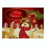 Customized Christmas Red Series Cotton & Linen Placemat Non-slip Table Mat