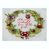 Customized Green Print Series Christmas Cotton and Linen Placemat