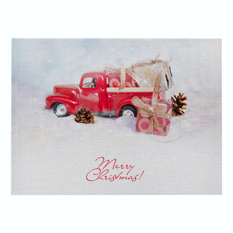 Customized Christmas Cotton & Linen Placemat Car Printing Series Kitchen Table Mat