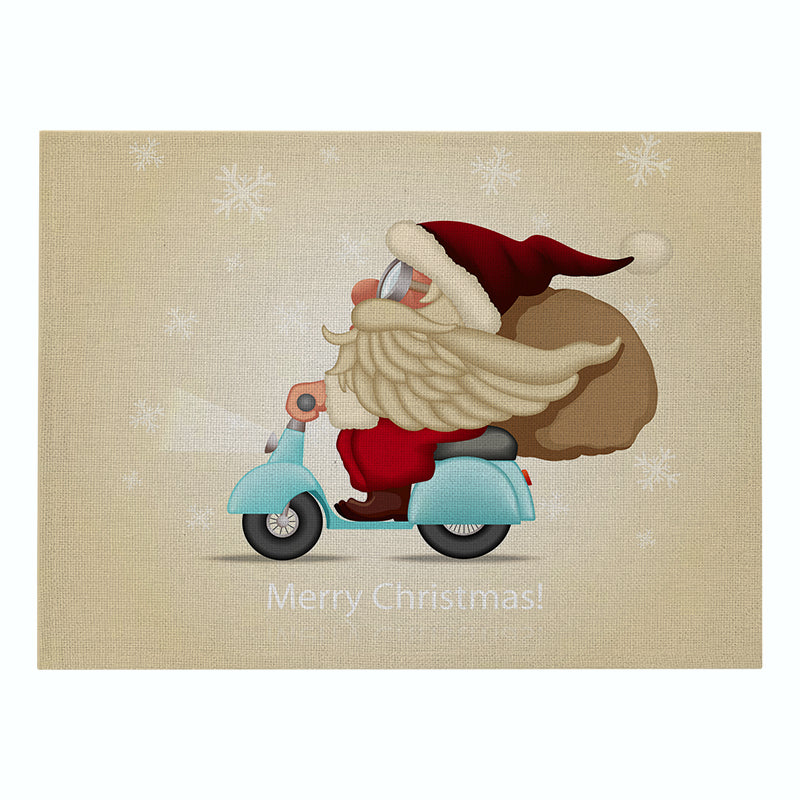 Custom Christmas Cotton & Linen Placemat Cartoon Printing Series Table Mat