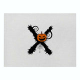 Customized Halloween Letter Series Cotton and Linen Insulation Placemat