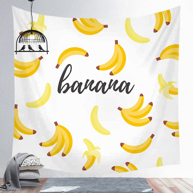 Nordic Style Banana Tapestry Home Hanging Cloth Decoration Background Room Decoration Tapestry
