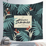 Nordic Style Tropical Green Tapestry Home Hanging Cloth Decoration Background Wall Square Beach Towel