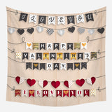 Customized Valentine's Day Tapestry Nordic Houseware Wall Cloth Printed Background Tapestry