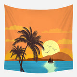 Sunset Tapestry Bohemian Hanging Cloth Forest Tapestry Room Decoration Tapestry