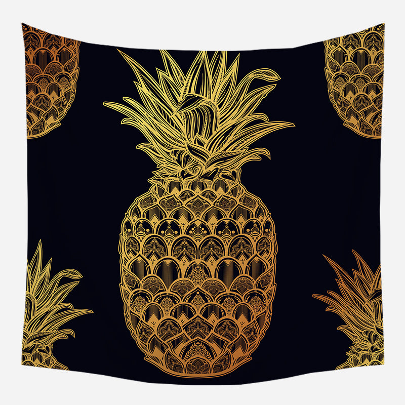 Pineapple Tapestry European Medieval Decoration Hanging Cloth Tarot Card Divination Tapestry
