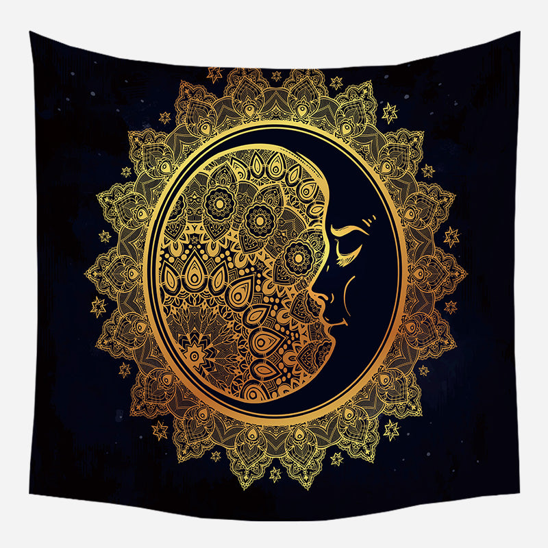 Wholesale Custom European Medieval Decoration Hanging Cloth Tarot Card Divination Tapestry Sun Shining Beach Blanket