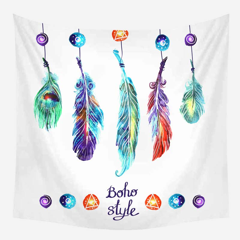 Wholesale Custom Dream Catcher Feather Tapestry Background Hanging Cloth