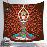Chakra Tapestry Decorative Hanging Cloth Background Wall Yoga Meditation Tapestry