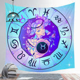 Taurus Tapestry Twelve Zodiac Signs Tapestry Decoration Tapestry Wall Background Hanging Cloth Wall Backdrop