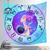 Scorpio Tapestry Twelve Constellation Tapestry Decoration Tapestry Wall Background Hanging Cloth Wall Backdrop