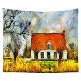Wholesale Custom Van Gogh Oil Painting Tapestry Wall Background Cloth Hanging Cloth
