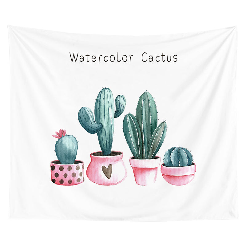 Wholesale Custom Hanging Cloth Background Cloth Nordic Style Green Plant Tapestry