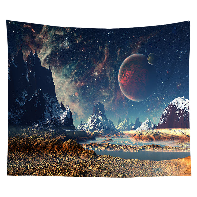 Wholesale Custom Nordic Tapestry Space Scenery Bedroom Decoration Cloth