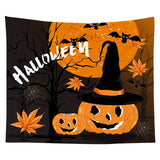 Wholesale Custom Halloween Tapestry Pumpkin Tapestry Background Cloth Bedroom Wall Decoration Hanging Cloth
