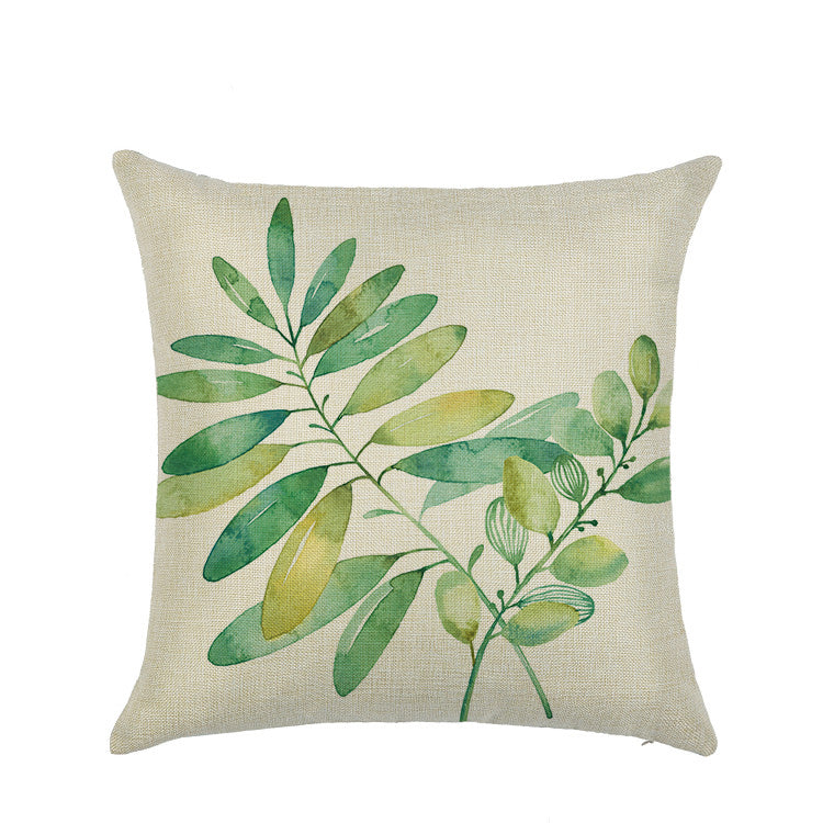 Customized Plant Flowers Linen Pillowcase Waist Pillowcase