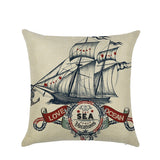 Wholesale Custom Sailing Marine Element Linen Pillowcase Sofa Waist Pillowcase