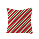 Simple Style Red Plaid Christmas Linen Pillowcase Home Sofa Pillowcase Cushion Cover JYM063