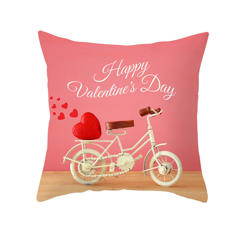 Wholesale Custom Valentine's Day Linen Pillowcase Flower Series Pillowcase JYM088