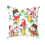 Custom Christmas Peach Skin Hug Pillowcase Snowman Hug Pillowcase Cartoon Printed Sofa cushion Cover Pillowcase