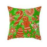 Customized Green Series Christmas Throw Pillowcase Bedside Household Items