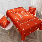 Customized Nordic Christmas Tablecloth Cartoon Letter Series Cotton & Linen Tablecloth