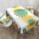 Customized Colorful Mandala Cotton & Linen Tablecloth