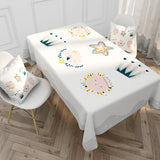 Customized Nordic Minimalist Pattern Cotton & Linen Tablecloth