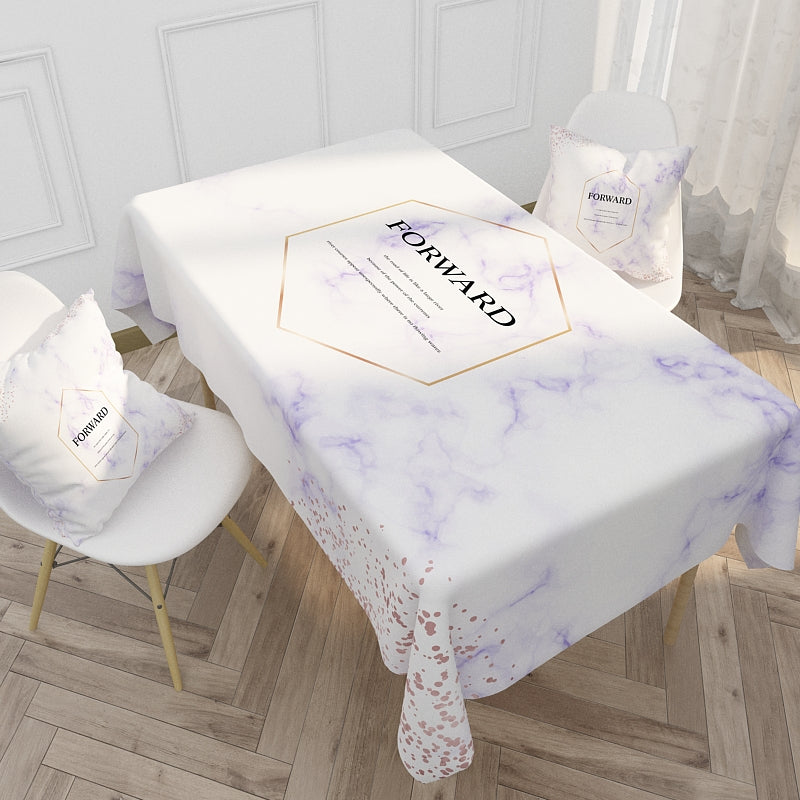 Customized Nordic Style Elk Letter Cotton & Linen Tablecloth