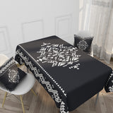 Customized Cotton & Linen Tablecloth Ethnic Style Simple Pattern Tablecloth