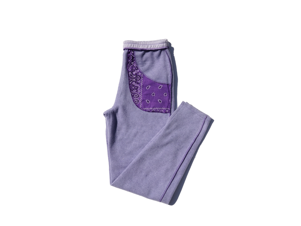PURPLE EMOJI SWEATPANTS