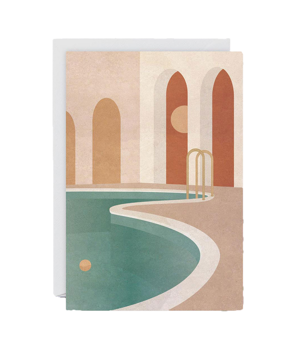 Pool with Arches Card by Charlotte Taylor