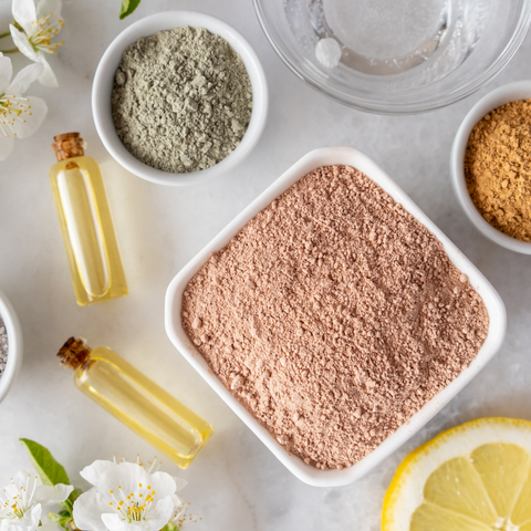 Clay Masks for use in skincare