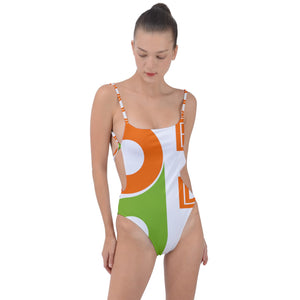 Lucky Tie Strap One Piece Swimsuit
