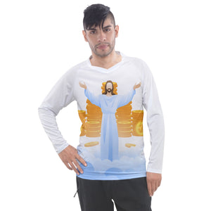 MONEY GOD Men's Pique Long Sleeve Tee