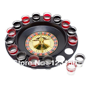 New Roulette Drinking Game with Casino Spin Shot Glass for Party