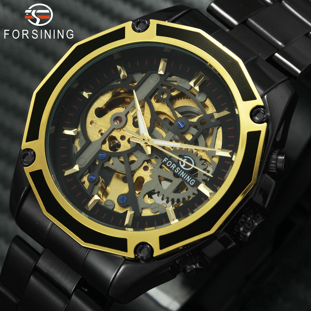 Golden Top Brand Luxury Auto Mechanical Watch