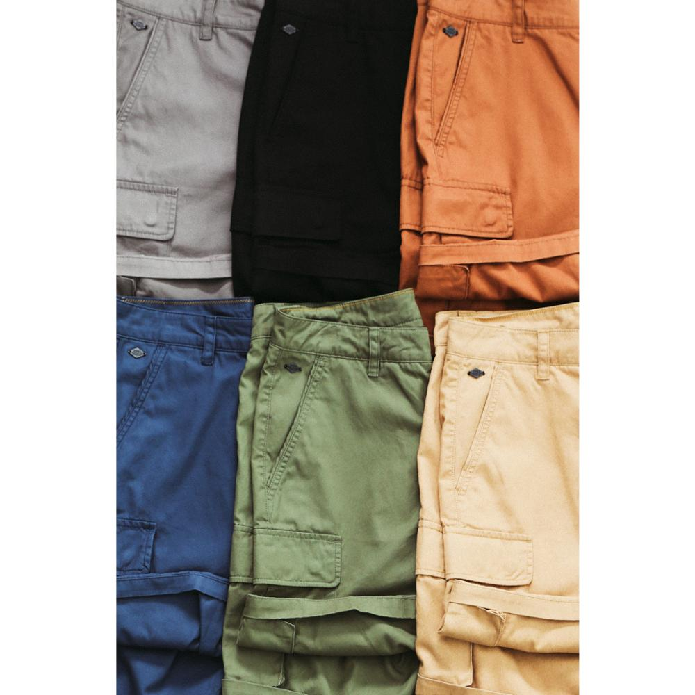 SIMWOOD 2020 Summer New Cargo Shorts Men Fashion Enzyme Washed Casual Multi-Pockets Plus Size 100% Cotton Shorts SJ130358