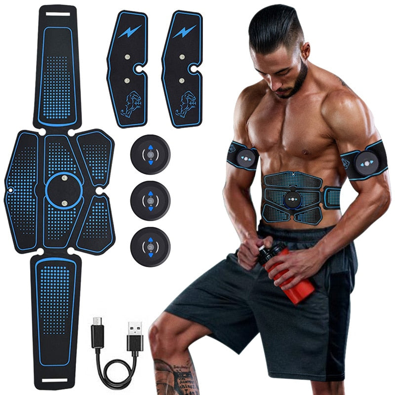 EMS Wireless Muscle Stimulator Abdominal Toning Belt Abdominal Muscle Trainer Exerciser Body Muscle ABS Fitness Gym Equipment