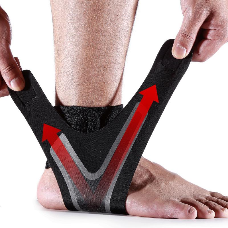 Adjustable Elastic Ankle Sleeve Elastic Ankle Brace Guard Foot Support sports ankle support weights ankle support Dropship