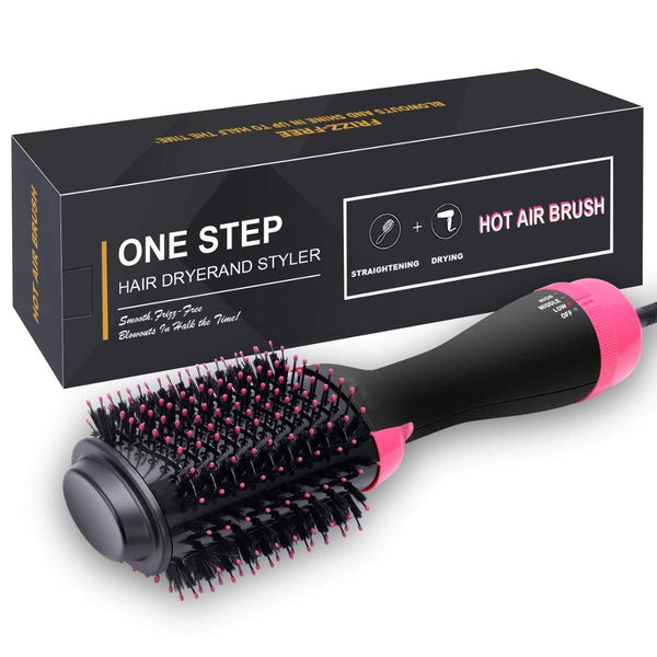 3 In 1 One Step Hair Dryer Blow Volumizer Hot Air Brush Ion Hair Straightener Comb Curling Brush Hair Styling Tools