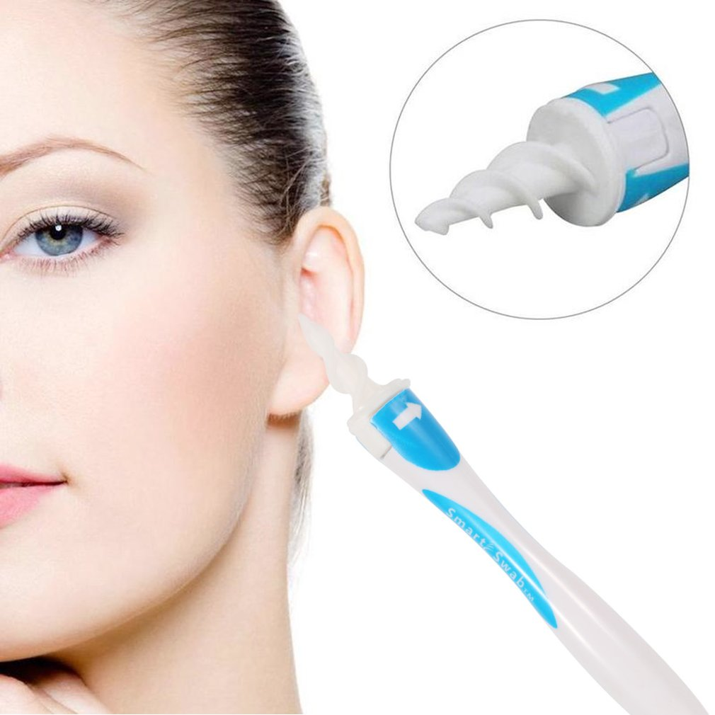 16 Tips Smart Ear Cleaner Earpick Swab Easy Earwax Removal Soft Spiral Cleaner Prevent Ear-pick Clean Tools Ear Care Kit