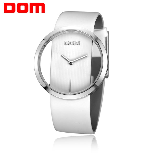 DOM Women Fashion Red Quartz Watch