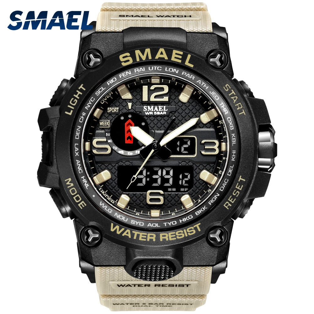 Men Military Watch 50m Waterproof Wristwatch