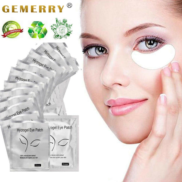 200/100/50 Pairs Patches for Building Hydrogel EyePads Eyelash Extension Paper Stickers Lint Free Under Eye Pads Makeup Supplies